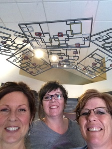 The Installation Team Selfie: from LtoR Leann, myself and sister Lisa