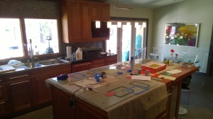 Kitchen Turned Workroom